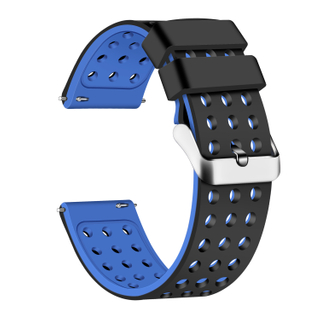 Silicone Quick Release Straps - 18mm (Black/Blue)