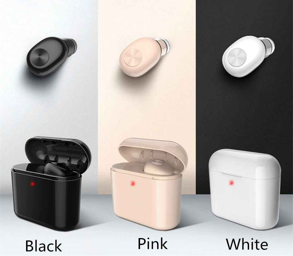 Mini Wireless Bluetooth 4.2 Earphone in-ear Sports with Charging box 700mAh Power Bank Mic Earbud Smart Headset Earpiece